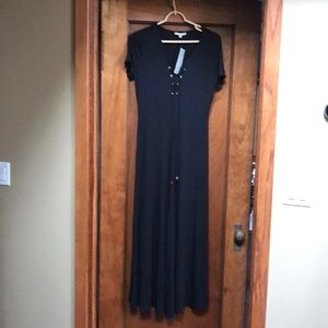 Joan Vass Black Maxi Dress